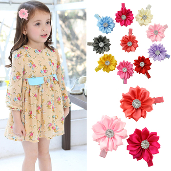6pcs/lot Hot sale baby girl lovely flower hairpins kids hair clips children hair accessories