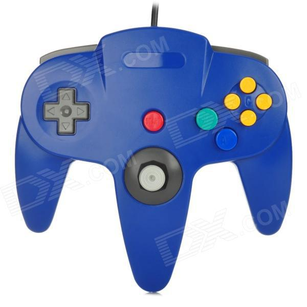 Blue Classic Wired Gamepad Video Game Joystick Controller For Nintendo N64 (Original Interface)(China (Mainland))