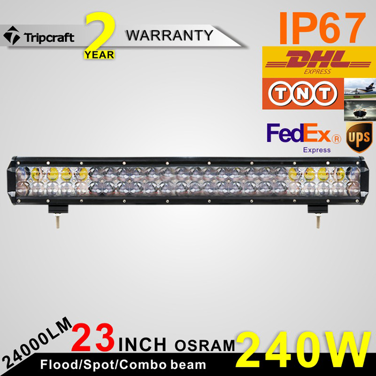 23INCH OSRAM LED BAR 240W LED DRIVING LIGHT 12V 24V OFF ROAD TRUCK BOAT 4WD 4X4 UTE WORK LAMP<br><br>Aliexpress