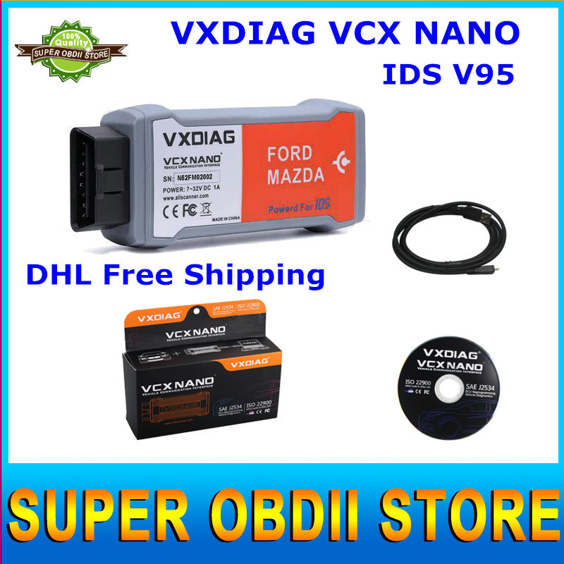 Professional Diagnostic Tool VXDIAG VCX NANO With IDS V95 Support Both New And Old For Ford / Mazda Car Till 2015 Year(China (Mainland))