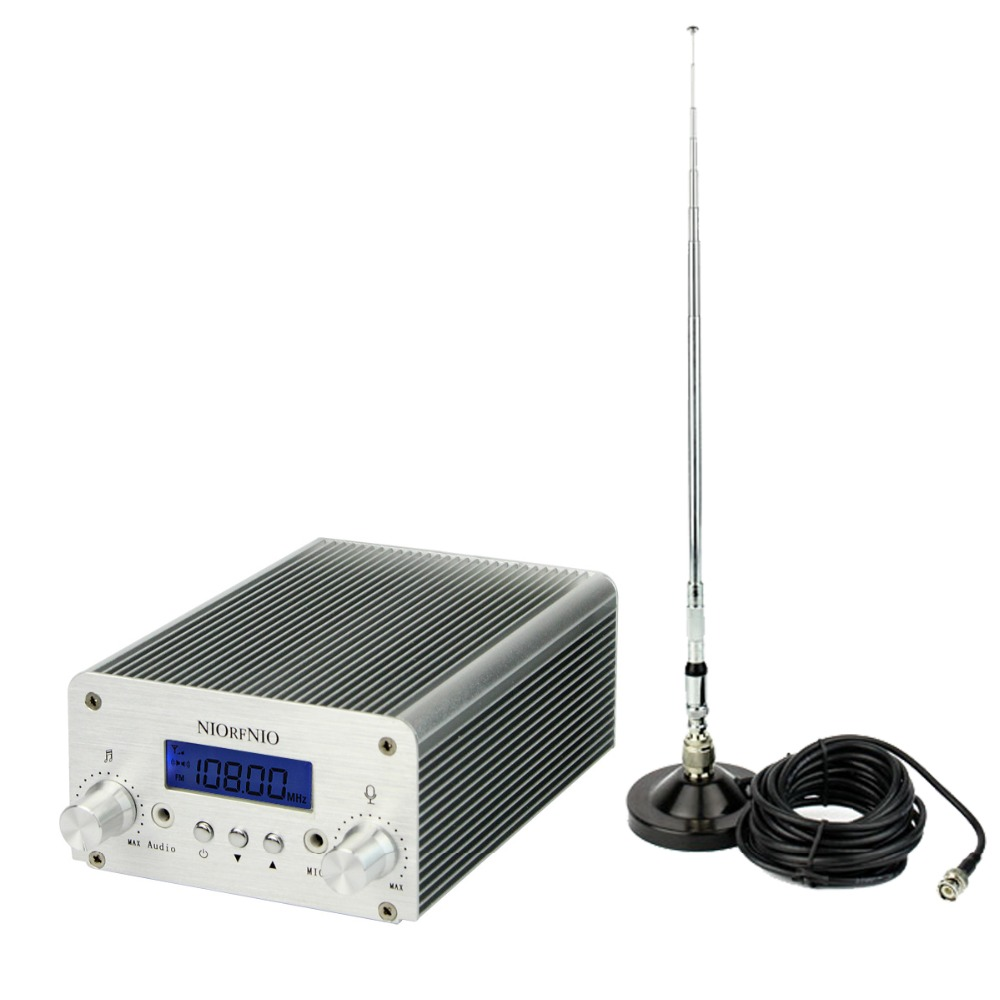 1 pc 5W 15W PLL FM Transmitter Mini Radio Stereo Station Bluetooth Wireless Broadcast Power Antenna