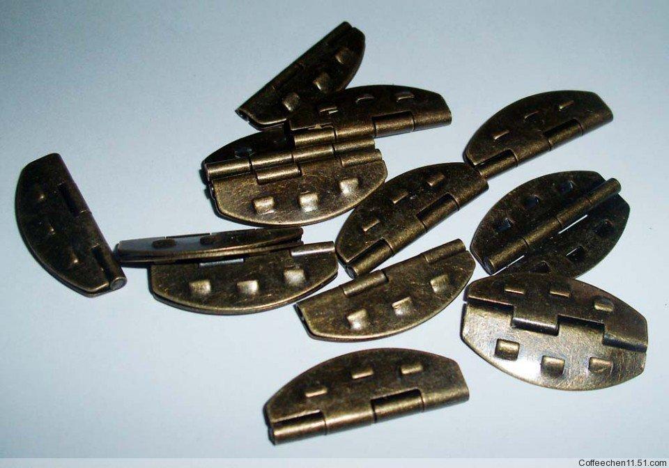 Гаджет  Free shipping antique brass jewelry box/wooden box hinges furniture hinge 100pcs/lot 17x26mm None Мебель
