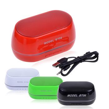 Bt06 мини-динамик Bluetooth портативный плеера беспроводной звуковой ящик TF AUX USB Altavoz Bluetooth altavoces пк телефон mp3-плеер