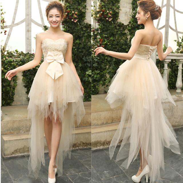В стиле прекрасной милая кружева свадебные платья короткие бальное платье свадебное ...