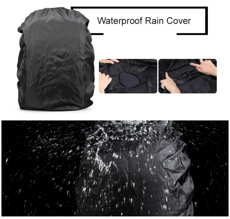 """ถูก อัพเกรดกันน้ำดิจิตอลDSLRภาพเบาะกระเป๋าเป้สะพายหลังw/ฝนปกLaotop 15.6 """"กล้องอเนกประสงค์ถุงนุ่มวิดีโอกรณี"""