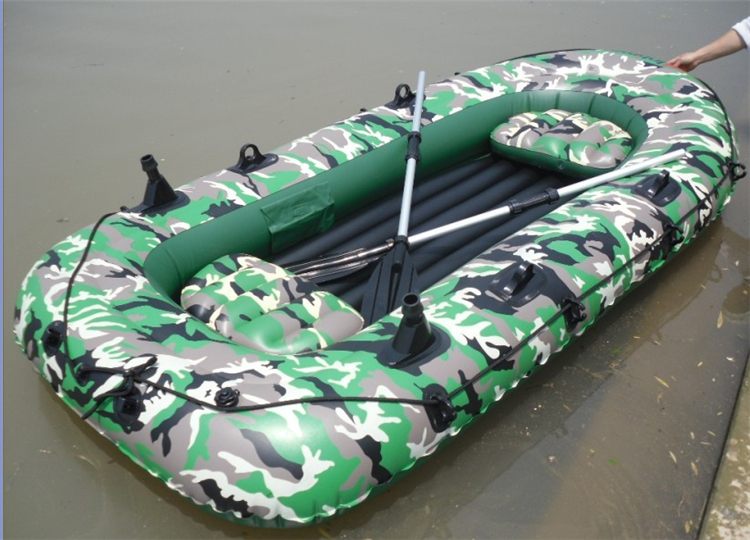 Kingtoy Free shopping !! inflatable fishing boat, PVC 4 person (2 adult + 2 children ) outdoor fun play in water, fishing Groovy(China (Mainland))