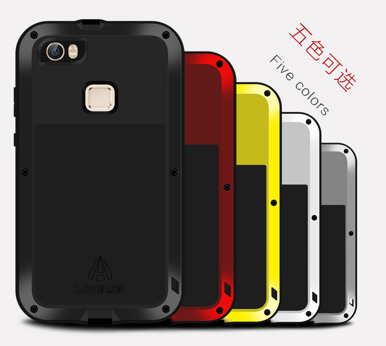 Original Love Mei Powerful Case For vivo Xplay5 / Xplay 5 Waterproof Shockproof Aluminum protector Case Cover + Tempered Glass(China (Mainland))