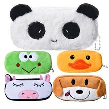 Cute Cartoon Kawaii Pencil Case, estuches school pencil pouch Plush for Kids School Supplies Material Stationery (China (Mainland))