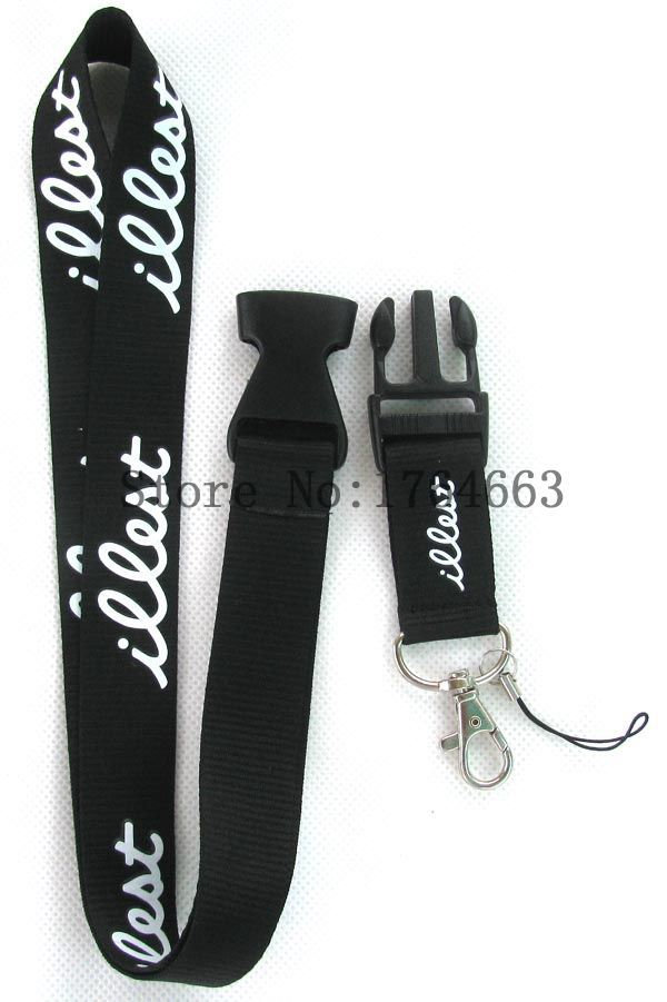 a lot of wholesale New black Clothing Logo Keychain LANYARD 30 Pcs,Neck phone Strap Charms CL 10(China (Mainland))