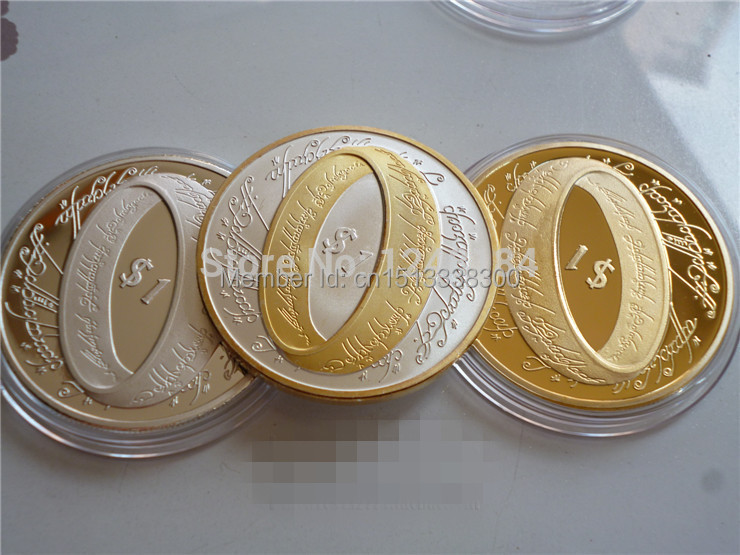 MIX 3 design The Lord of the Rings & 2003 Elizabeth II Gold Silver Coins ,New Zealand Ring Collection New coins+3pcs/lot(China (Mainland))