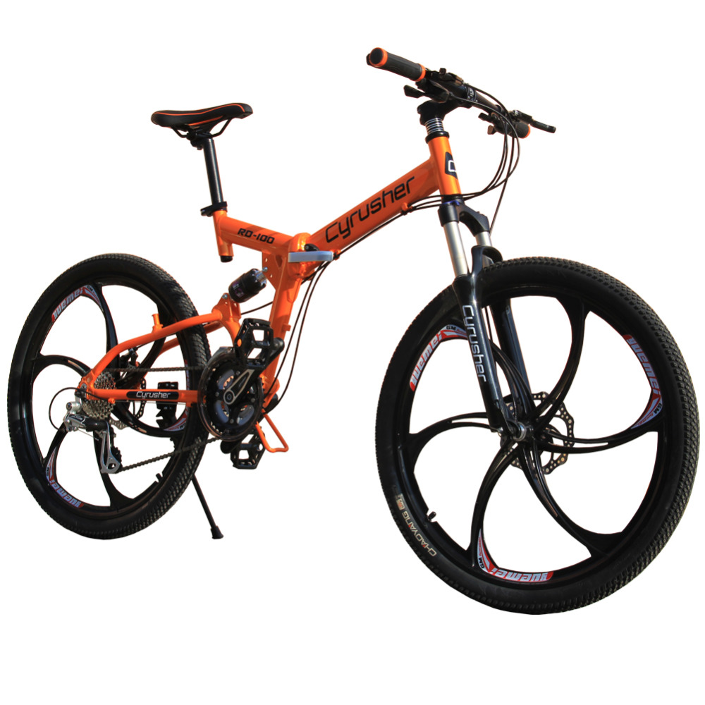 Cyrusher Rd 100 Orange Green Full Suspenion 24 Speeds