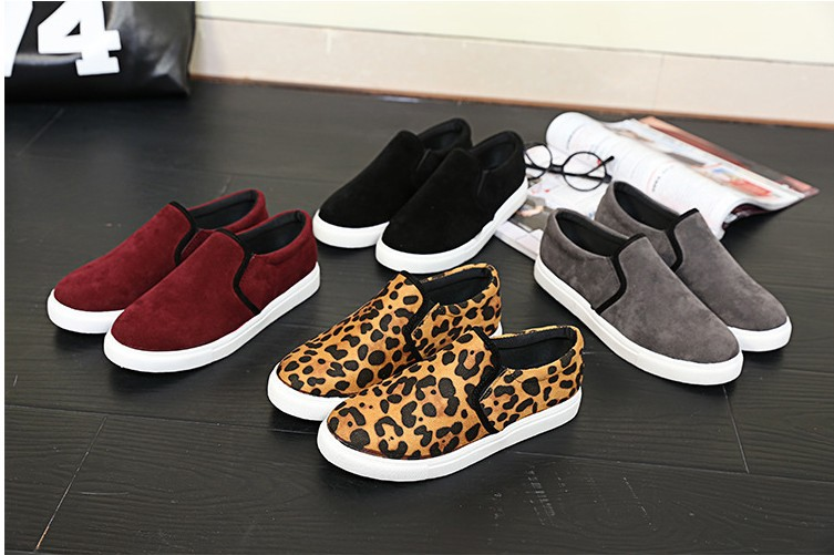 2015 Fashion Spring Summer Women Casual Shoes Slip On Round Toe Loafer Shoes Comfortable Sneaker Flats Single Shoes Leopard(China (Mainland))