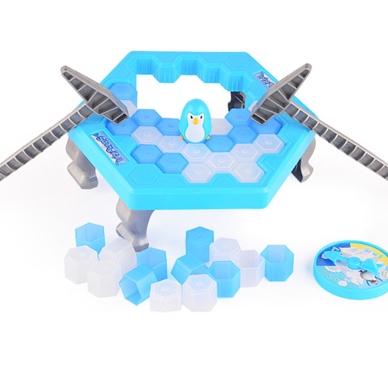 Gags Ice Breaking Save Pounding Penguin Ice Cubes Save Penguin Knock Ice Block Wall Practical Jokes Toy FL