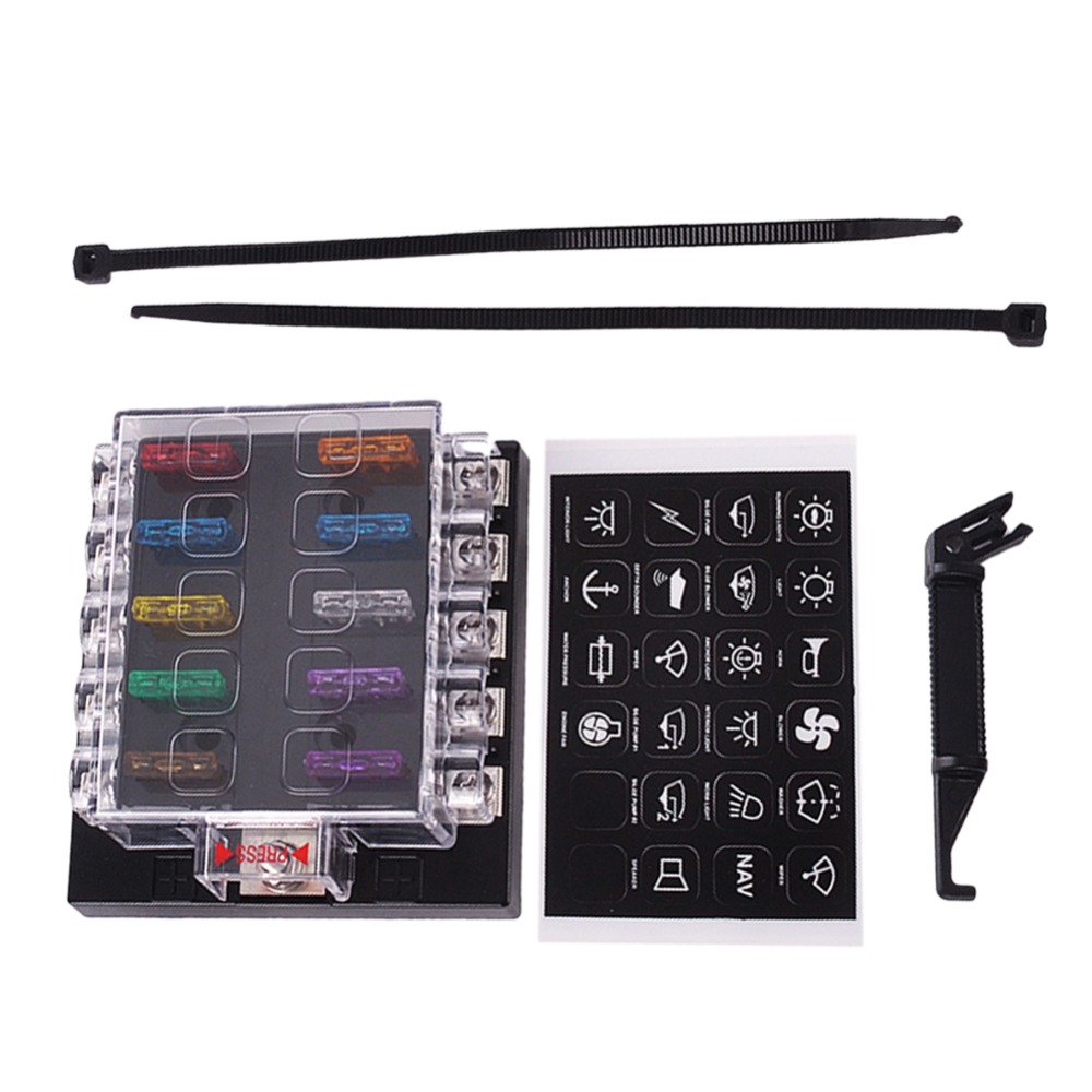 compare prices on terminal fuse online shopping buy low price new fuse box holder terminal bar kit 10 way blade car ato atc van truck 6v