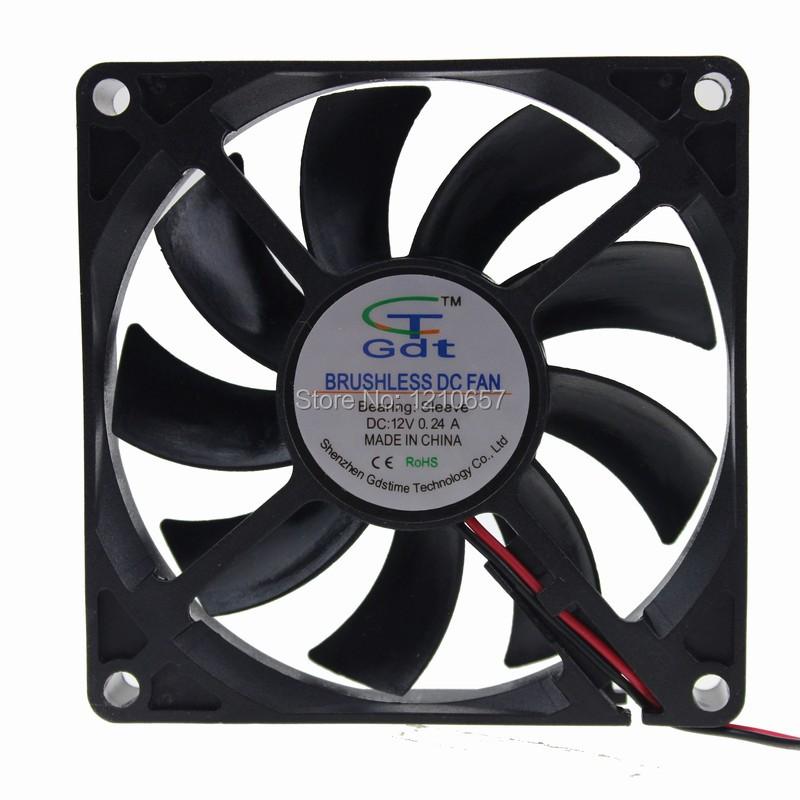 10 Pieces LOT GDT 8cm 80mm 80x80x15mm DC 12V 2Pin-2510 Connector Computer Case Heatsink Fan<br><br>Aliexpress