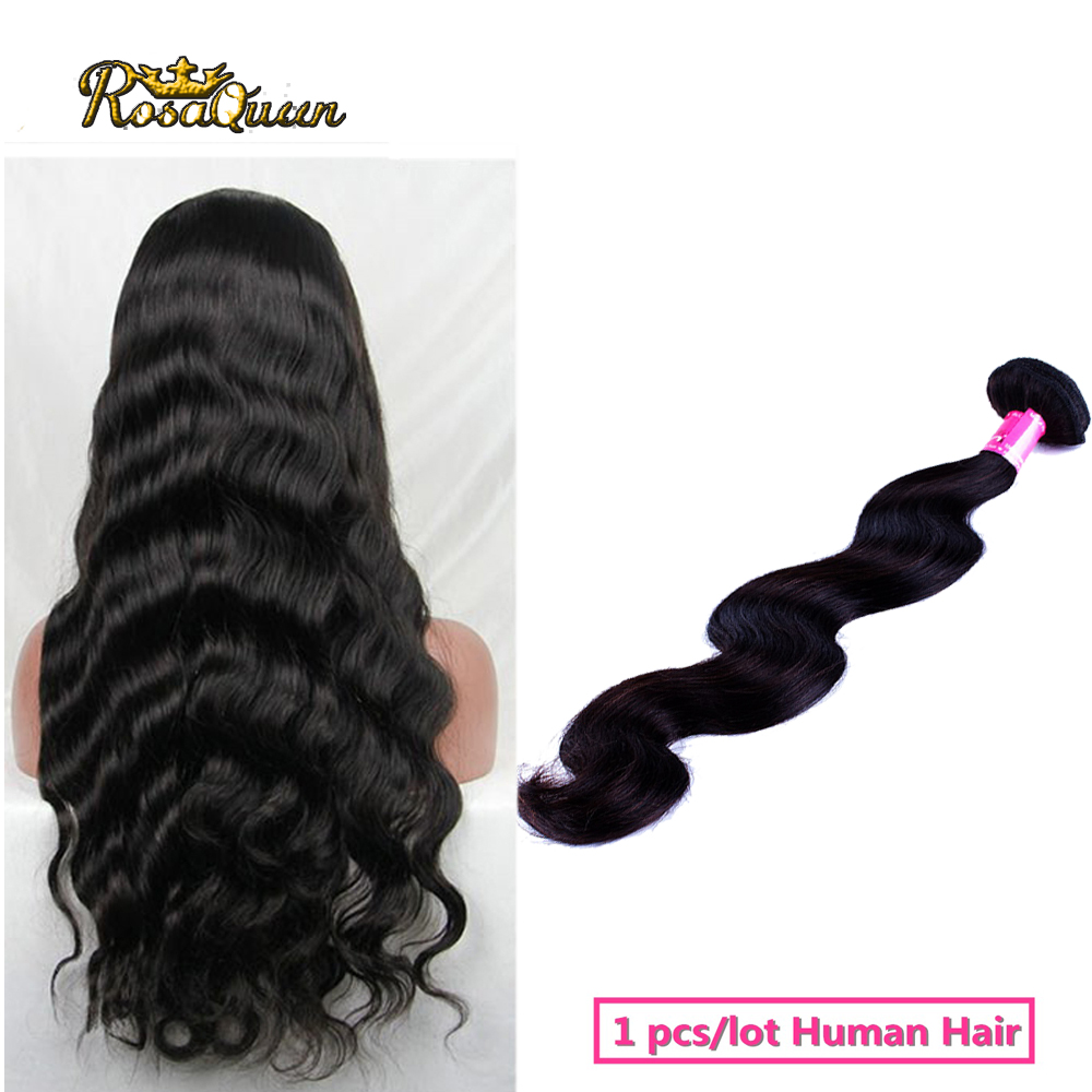 1 bundle/lot Brazilian virgin hair body wave top 8a grade virgin unprocessed human hair wholesale queen hair brazilian body wave