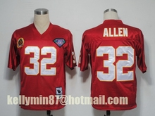 100% Stitiched,Kansas City Chief,Derrick Thomas,Jeremy Maclin,Marcus Allen,Len Dawson,Throwback for men(China (Mainland))
