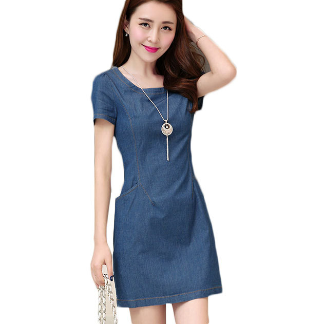 Aliexpress.com : Buy 2015 Summer Women Denim Dress Pocket Long Zipper ...