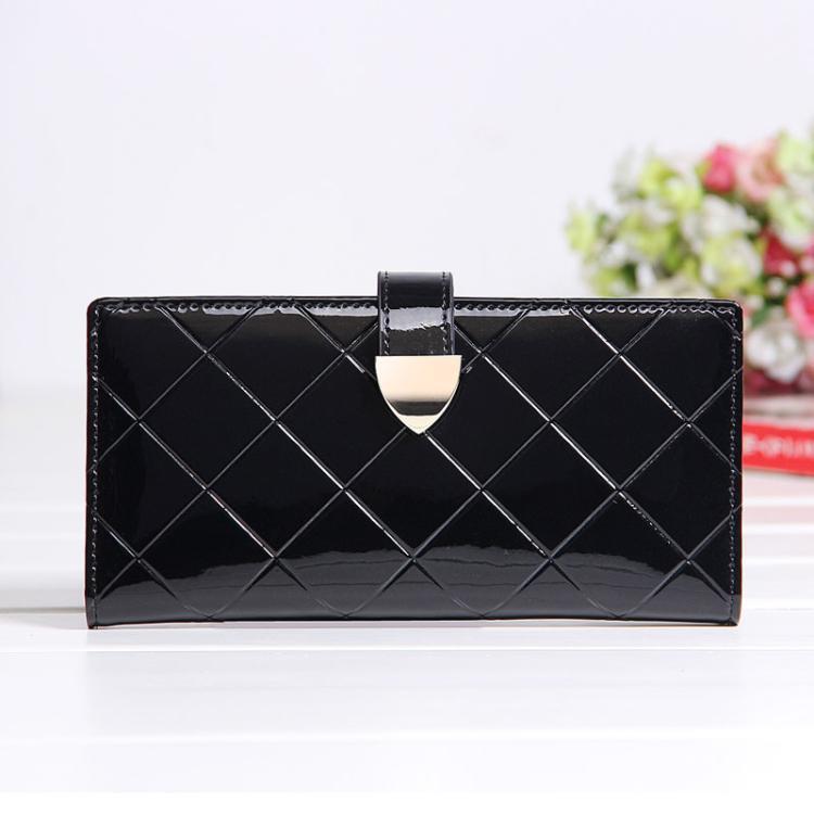 2016 HOT Luxury Fashion Korea style Rhombus style Classic Genuine Leather women purse Lady medium wallet Girl Handbag cheap(China (Mainland))