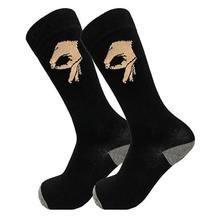 جوارب طويلة للرجال للجنسين للشتاء محاكة بنصف العجل جوارب دائرية مضحكة مطبوعة بشكل جيد موضة الهيب هوب من القطن للارتداء في الشارع(China)