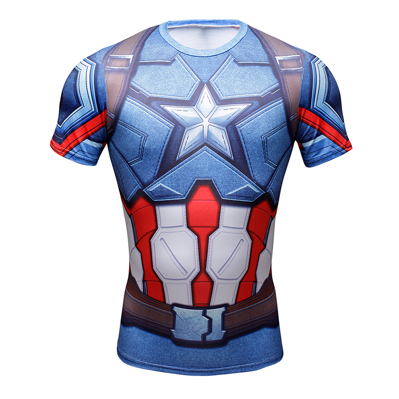T Shirt Captain America Civil War Tee 3D Printed T-shirts Men Marvel Avengers 3 iron man Fitness Gym Clothing Male Crossfit Tops(China (Mainland))