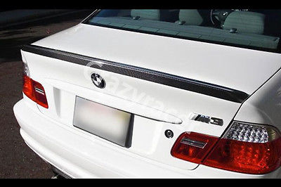 E46 Trunk Boot Lip Spoiler Wing For BMW E46 Coupe 2Door Carbon Fiber M3 Style 1999-2004(China (Mainland))