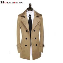 2016 Classic Luxury Men Causal Windbreak Wind Coat Jackets And Coats Long Slim Manteau Homme Double Breasted Wine Red S-9XL(China (Mainland))