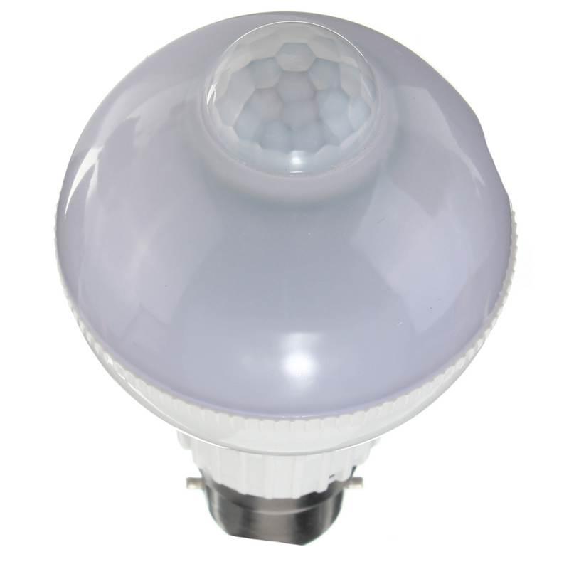 B22 5W 18 LED Motion Control PIR Sensor Globe Light