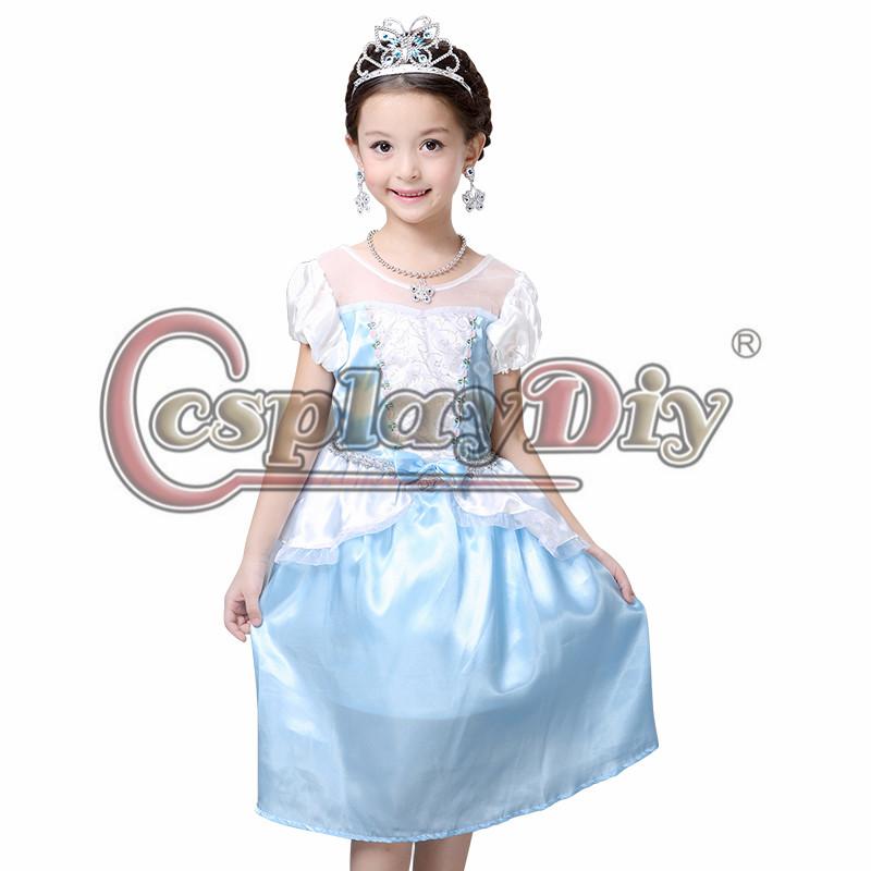 Princess dress blue fancy dress girls summer costume best christmas