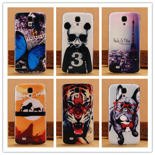 Fashion Printing Hard Case For Samsung Galaxy S4 i9500 SIV Mobile Phone Cases Back Cover Tiger Lion Dog Butterfly Panda PY(China (Mainland))