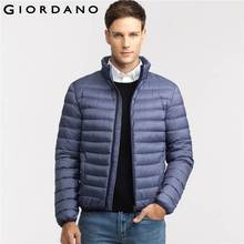 Giordano Men Downs Jacket Mockneck Puffer Jackets Solid Winter Clothing Homme Outerwears 90% Down Parka Hombre Casual(China (Mainland))