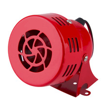 New Red 12V Automotive Air Raid Siren Horn Car Truck Motor Driven Alarm Hot Selling(China (Mainland))