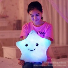 Buy Kawaii Star Pillow Plush Toys Cute Luminous Pillow Toy Led Light Pillow Glow Dark Plush Pillow Doll Toys Children Kids for $7.15 in AliExpress store