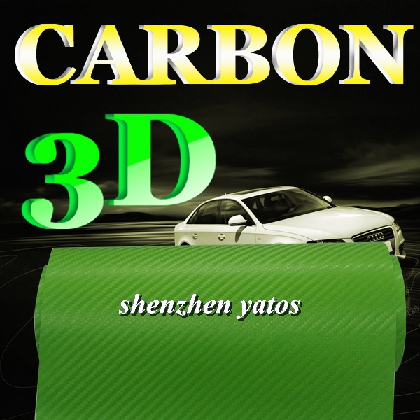Best sale Green 3D Carbon fiber vehicle graphics wrap/ 3m vehicle protection film /1.52x30M/ Air free bubbles(China (Mainland))