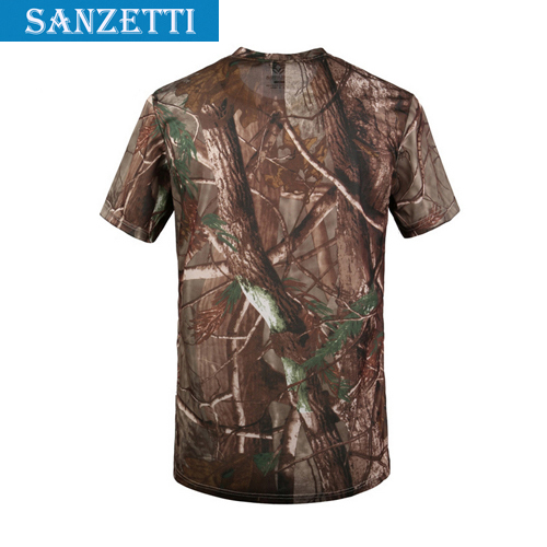 Summer Outdoors Hunting Camouflage T shirt Men Breathable Army Tactical Combat T Shirt Military Dry Sport