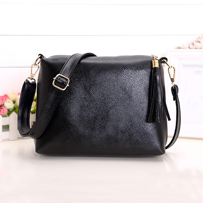 Brand designer women bag soft leather fringe crossbody bag shoulder women messenger bags desigual candy color A866(China (Mainland))