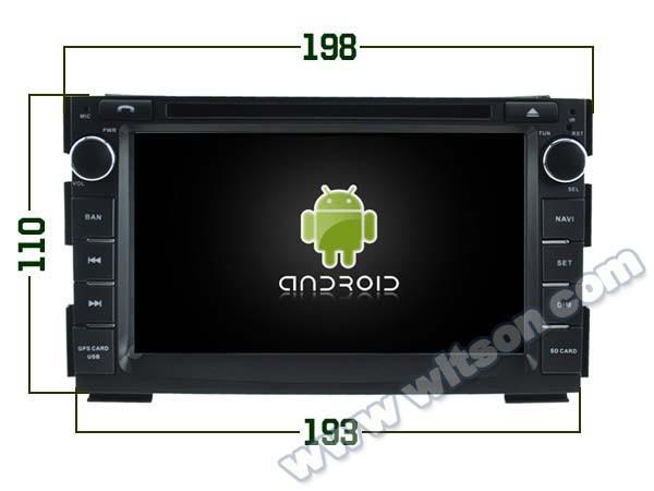 Купить WITSON Android 5.1 CAR DVD GPS для KIA CEED/VENGA стерео Android dvd-плеер автомобиля построен в wifi ЕМКОСТНЫЙ Экран Бесплатно карты