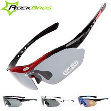 Hot! RockBros Polarized Men Women Cycling Sun Glasses Outdoor Sports Bicycle Glasses Bike Sunglasses TR90 Goggles Eyewear 5 Lens(China (Mainland))