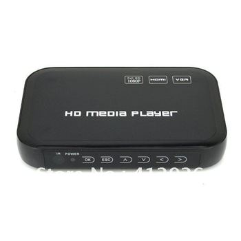 free shipping!!!new Full HD 1080P USB HDD Media Player HDMI VGA MKV H.264 Black 901743-CES-00105