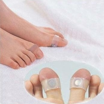 Hot! Guaranteed 100% New Original Magnetic Silicon Foot Massage Toe Ring Weight Loss Slimming Easy Healthy(China (Mainland))