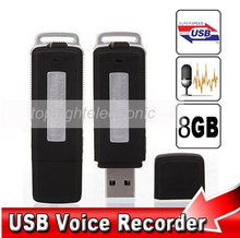 New Mini 8GB USB Driver Digital Audio Voice Recorder U Flash Disk dictaphone(China (Mainland))