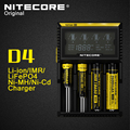Original Nitecore D4 Intelligent Digi Smart Charger with LCD Display for 14500 16340 RCR123 18650 22650