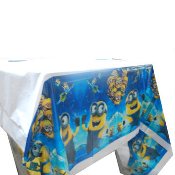Small Yellow Man Tablecloth Kids Happy Birthday Party Supplies Dinner Table Desk Cover Cloth Decoration(China (Mainland))