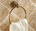 Free Shipping Antique Brass Round Towel Ring Wall Mounted Bathroom Towel Rack Towel Shelf
