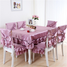 Hight Quality Embroidered Fabric Party Chair Covers Chair Mat Tablecloth for Dinning Chair Free Shipping(China (Mainland))