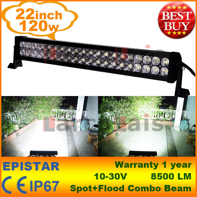 "22"" Inch 120W LED Light Bar for Work Driving Boat Car Truck 4x4 SUV ATV Off Road Fog Lamp Spot Wide Flood Beam 12V 24V(China (Mainland))"