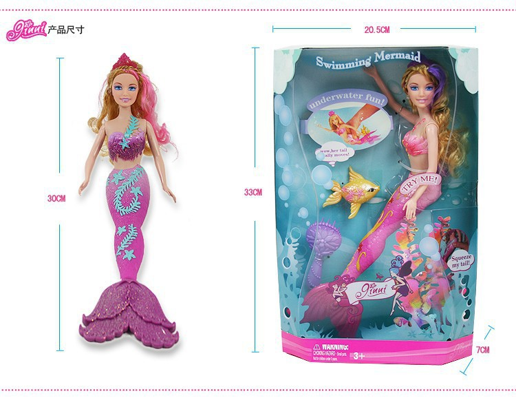 Christmas gift Mermaid Doll Toys For Girls Cheap Mermaid Doll Mermaid with Original Box,accessories for barbie