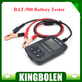 DHL Free Shipping BAT-500 BAT500 12V Auto Battery Tester BAT500 Automotive Electrical Battery Analyser For Car/Train/ Bicycles