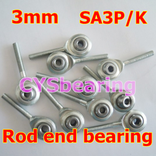 3mm SA3P/K NOS3 M3X0.5 male metric right hand threaded rod end joint bearing(China (Mainland))