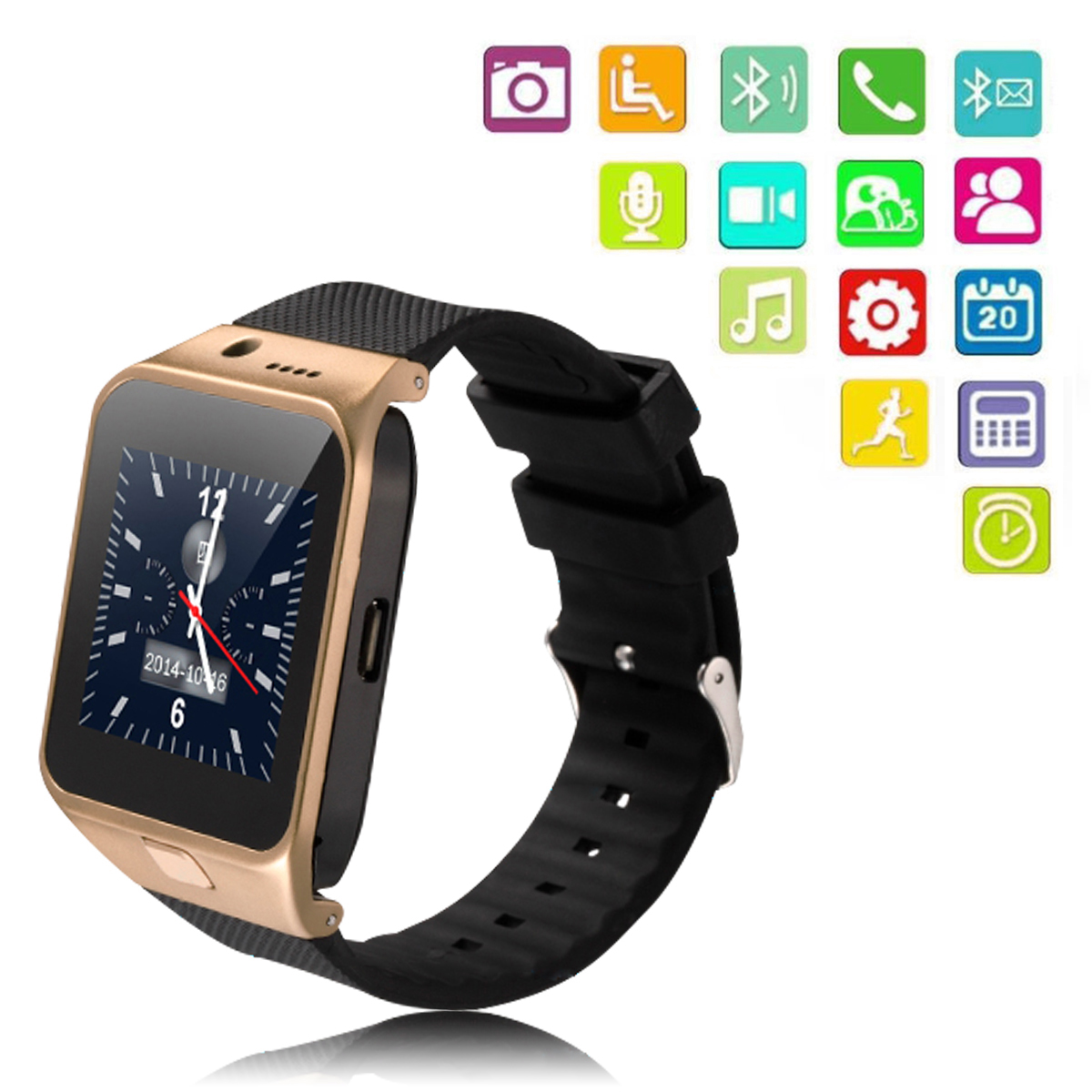 Bluetooth Smart Watch Sport WristWatch GV10 For Apple iPhone Samsung Support Sync Call Message Fitness Tracker AC295(China (Mainland))